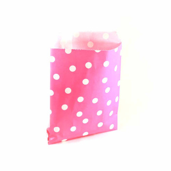 "7""H Pink Paper Heat Bags 12 pieces"