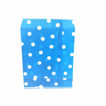 "7""H Blue Paper Heat Bag 12 Pieces"