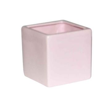 4'' Pink Ceramic Cube