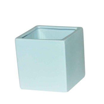 4'' Light Blue Ceramic Cube