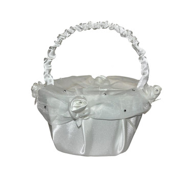 6'' Ivory Flower Girl Basket