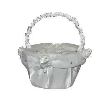 6'' Ivory Flower Girl Basket