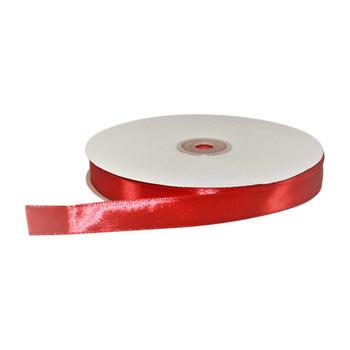 5/8'' Red Single Face Satin Ribbon