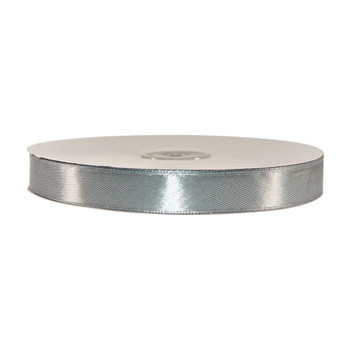 5/8'' Silver Single Face Satin Ribbon