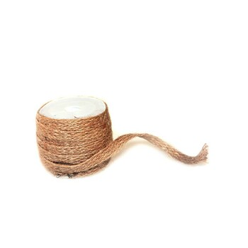 1/4'' Natural Burlap Ribbon