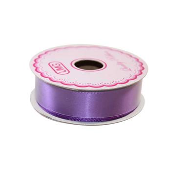 """3/4"""" Purple Single Face Satin Ribbon"""