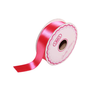 3/4'' Hot Pink Single Face Satin Ribbon