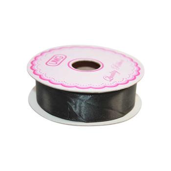 3/4'' Black Single Face Satin Ribbon