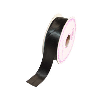 3/4'' Black Single Face Satin Ribbon