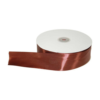 1.5'' Brown Single Face Satin Ribbon