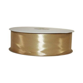 1.5'' Gold Single Face Satin Ribbon