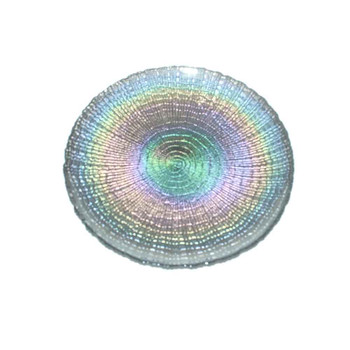 "13"" Iridescent Glass Charger Plate"