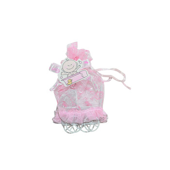 "3""  Baby Girl Carriage with Pouch"