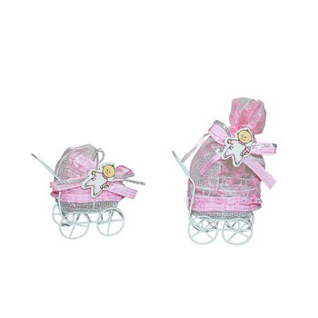 "4""  Baby Girl Carriage  with Pouch"