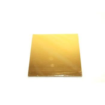 "7.87"" Gold Square Cake Pad"