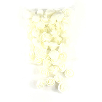 "1"" Ivory Foamy Flowers"