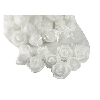 "1"" White Foamy Flowers"