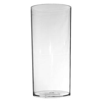 11.75''H Clear Acrylic Cylinder Vase.