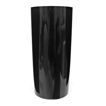 15.75''H Black Acrylic Cylinder Vase