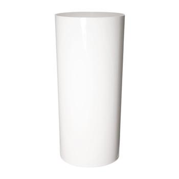 15.75''H White Acrylic Cylinder Vase