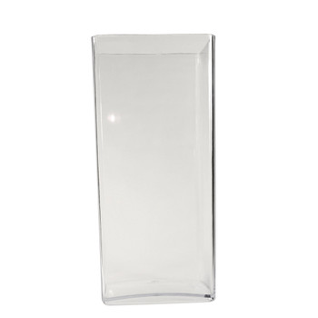 "15.75""H Clear Acrylic Square Vase"