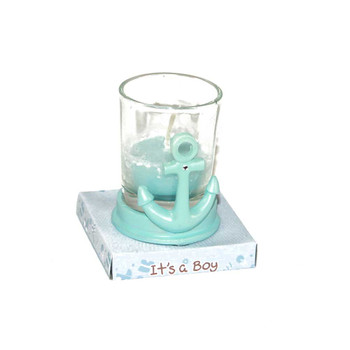 "2.5"" Blue Ship Anchor Votive Candle"