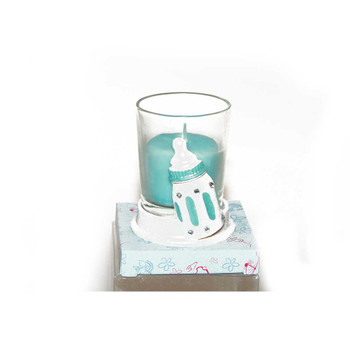 "2.5"" Blue Bottle Votive Candle"