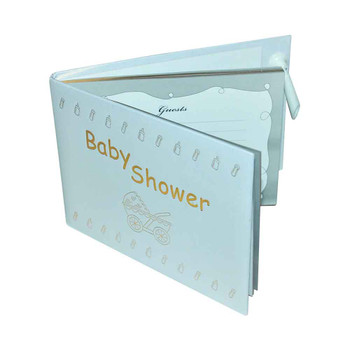 White Baby Shower Guest Book