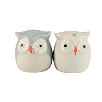 "2""  Owl Couple Salt & Pepper"