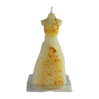 "4"" Gold Dress Candle"