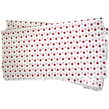 "22"" White Polka Dot Cellophane Sheets - 50 Sheets"