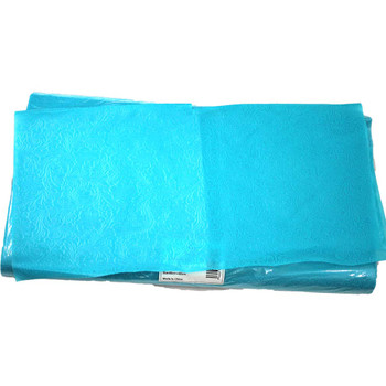 """24"""" Lake Placid Blue Non-Woven Floral Wrapping Paper -  50 Sheets"""
