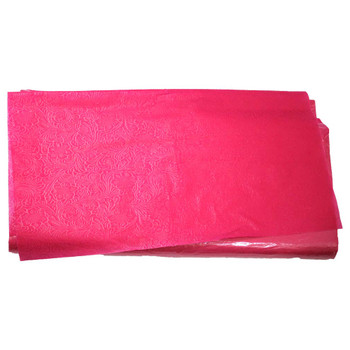 "24"" Rose Colored Non-Woven Floral Wrapping Paper -  50 Sheets"