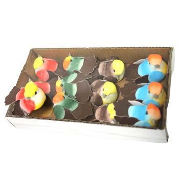 """1.75"""" Mushroom Birds - 12 Pieces"""
