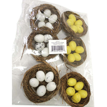 Birds Nest with 5 Eggs - 6 Nests per Pack