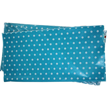 "22"" Blue Polka Dot Cellophane Sheets - 50 Sheets"
