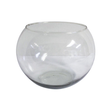 "8"" Fish Bowl Glass Vase"