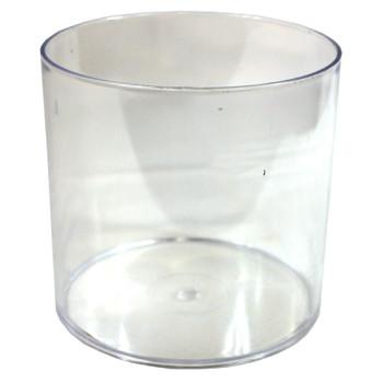 "6"" Clear Acrylic Cylinder Vase"