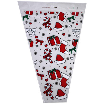 "12"" Printed Christmas Gifts Floral Sleeve"