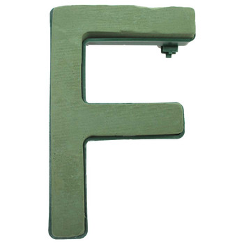 "12"" Fresh Floral Foam Letter ""F"""