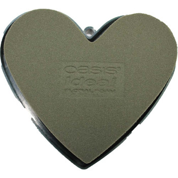 "5"" Solid Mini Heart with Oasis Fresh Floral Foam"