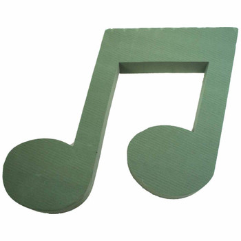 "14"" Music Note Fresh Floral Foam"