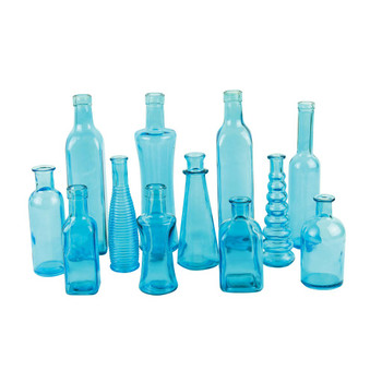 Blue Vintage Bottle Assortment