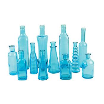 Blue Vintage Bottle Assortment