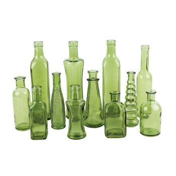 Green Vintage Bottle Assortment