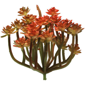 "5"" Red Blooming Artificial Succulent Plants"