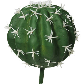"3.5"" Green Artificial Round Cactus Plant"