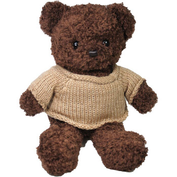 "14"" Brown Teddy Bear with Sweater"