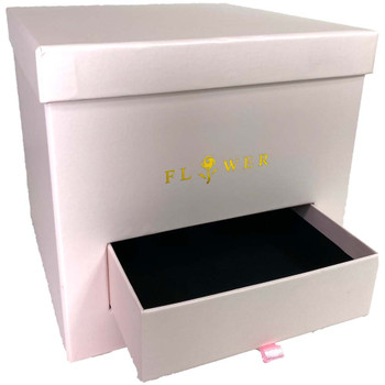 Pink Square Floral Box with Drawer