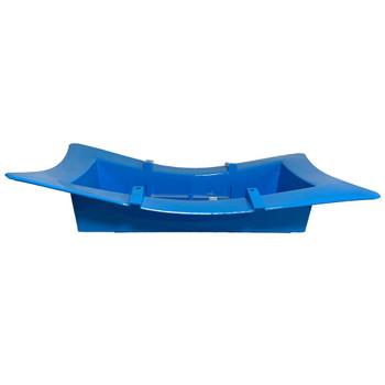 "13"" Oriental Full Brick Blue Vase"